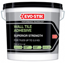 EVO-STIK SUPERIOR STRENGTH WALL TILE ADHESIVE WHITE 10LTR